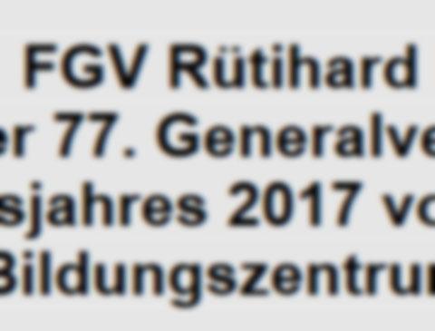 Jahresbericht 2018 und GV